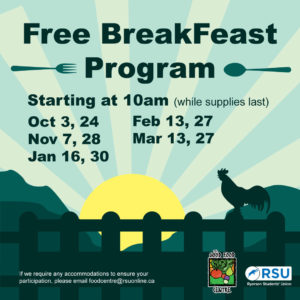 Free Break-Feast Program @ Student Centre Lobby